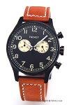 【TSOVET】ソベット腕時計SVT-DE40Series(SVT-DE40シリーズ)ブラック/ブラウンレザーストラップDE331013-43