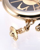 VivienneWestwoodヴィヴィアンウエストウッド腕時計OrbII(オーブ2)ブラック×ゴールド/ブラックレザーストラップレディスVV006BKGD
