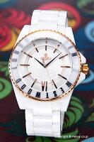 【VivienneWestwood】ヴィヴィアンウエストウッド腕時計SloneCeramic(スローンセラミック)オールホワイト×ローズゴールドVV048RSWH