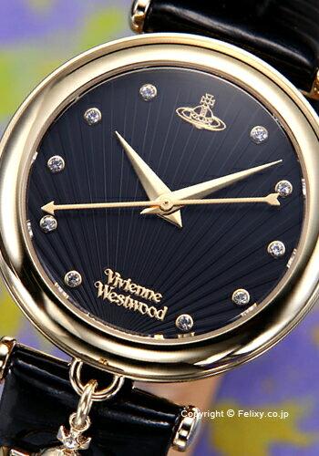 ヴィヴィアン ウエストウッド Vivienne Westwood 腕時計 Trafalgar (トラファルガー) ブラック×ゴールド VV108BKBK