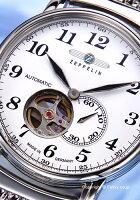 ツェッペリンZEPPELIN腕時計LZ127GrafZeppelin(LZ127グラーフ・ツェッペリン)ホワイト7666-M1