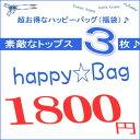【2018】 ご好評の HAPPY BAG 再登場♪・・・HAPPY☆BAG 素敵なトップス・長袖(春・冬物)3枚入って1800円 / 人気福袋 /  レディース ファッション / シンプル トップス