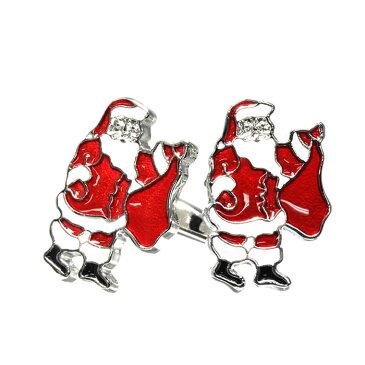 カフスボタン サンタクロース クリスマス 12月 cufflinks カフリンクス メンズアクセサリー CF-150120
