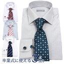 卒業式セット ワイシャツ ネクタイ カフス セット メンズ 紳士 男 ...