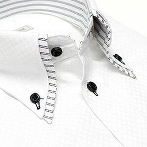 レビュー ワイシャツ デザイン おしゃれ ビジネス ストライプ カッターシャツ フォーマル