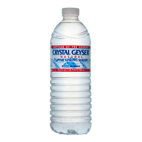 スプリング ミネラルウォーター クリスタルガイザー 500ml ペットボトル 49円x24本 1176円【water】