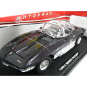 Chevrolet Corvette MAKO SHARK Black 1/18 MOTOR MAX 7315円【シボレー・コルベット メイコ シャーク モーターマックス ミニカー ダイキャストカー アメ車 ブラック 黒】【151007】【コンビニ受取対応商品】