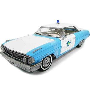 1964 FORD GALAXIE 500 Blue/White 1/18 SUN STAR 12037円【フォード ギャラクシー アメリカンポリス 警察 パトカー ミニカー ダイキャストカー アメ車】【151009】【コンビニ受取対応商品】