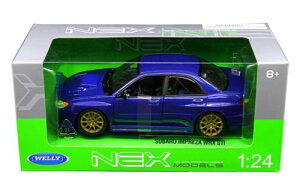 2005 SUBARU IMPREZA WRX STI BLue 1/24 Welly 3612円 【 スバル インプレッサ ウェリー 青 ミニカー 5ドア ハッチバック ダイキャストカー WRC ラリー 】【コンビニ受取対応商品】