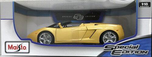 車, ミニカー・トイカー Lamborghini Gallardo Spyder Yellow 118 MAISTO 6273