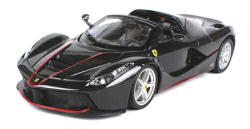 車, ミニカー・トイカー FERRARI LA FERRARI APERTA Black 124 Bburago RACEPLAY 150812