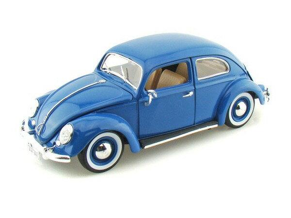 車, ミニカー・トイカー 1955 Volkswagen Beetle KAFER Blue 118 MAISTO 1