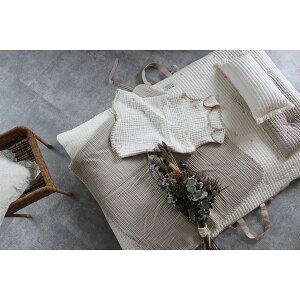 new インナー布団とカバーのセット NAPMAT お昼寝布団 キルト星と月の刺繍 ナップマット