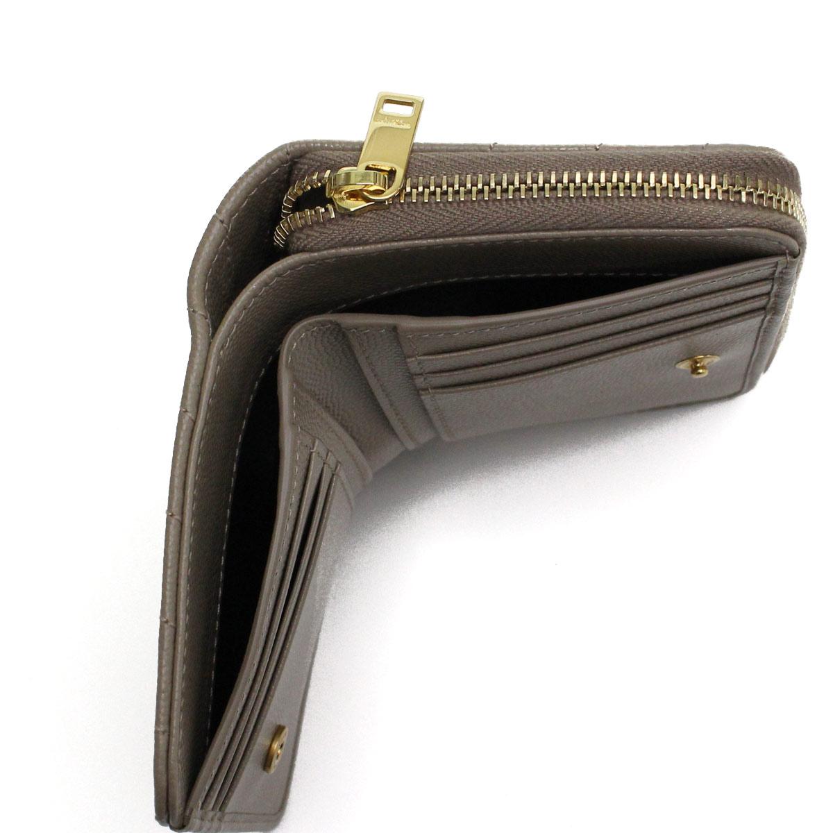 サンローラン SAINT LAURENT MONOGRAM MATELASSE コンパクト財布 2つ折り財布 403723 BOW01 1722 ベージュ系 レディース