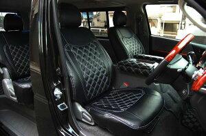 選べるステッチカラー4色!200系 ハイエース S-GL ダイヤカットデザイン シートカバー