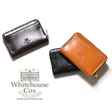 【2018AW】 WHITE HOUSE COX ホワイトハウスコックス ミニジップパース S1941レディース メンズ 【送料無料】【正規品】【ハバナ/ニュートン/ブラック】 財布