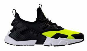 即納 ナイキ メンズ スニーカー Nike Air Huarache Run Drift エアハラチ ドリフト Volt/Black/White