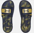Under Armour Ignite Banshee III Slide メンズ Midnight Navy/Metallic Gold アンダーアーマー サンダル