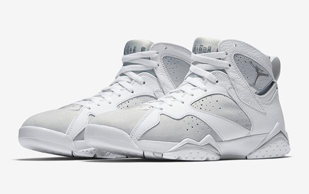 Jordan Retro 7 'Pure Money' キッズ/レディース White/Metallic Silver/Pure Platinum ジョーダン バッシュ