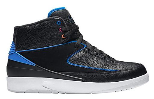 Jordan Retro 2 メンズ Black/Photo Blue/White/Atomic Orange/Fire Pink ジョーダン レトロ バッシュ:trois HOMME