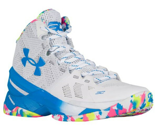 """Under Armour Curry 2 """"SURPRISE PARTY""""メンズ White/Mojo Pink/Electric Blue アンダーアーマー バッシュ カリー2 Stephen Curry ステフィン・カリー:trois HOMME"""