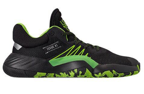 競技用シューズ, メンズ競技用シューズ  adidas D.O.N. Issue 1 BlackTeam Solar GreenSilver Metallic