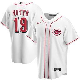 """ナイキ メンズ ジャージ Joey Votto """"Cincinnati Reds"""" Nike Home 2020 Replica Player Jersey - White"""