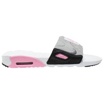ナイキ メンズ Nike Air Max 90 Slide サンダル スリッパ White/Cool Grey/Rose
