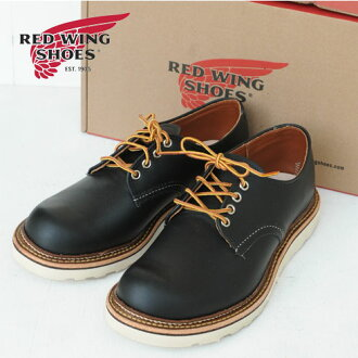 """RED WING Work/Oxford 6 """"Black Round-Toe""""Chrome""""(8002)"""