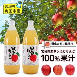 100%ストレート 田舎りんごジュース2本セット
