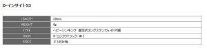 スミスDインサイト【53mm/5g】【2016年新色】