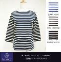 Le minor(ルミノア)7分袖ボーダーバスクシャツ LEF995001 P20Feb16