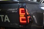 ハイラックスGUN125ファイバーLEDテールスモークシーケンシャルウインカー流れるウインカー左右セット台湾DEPO製国内在庫