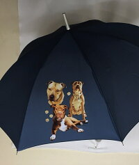 グレート・ピレニーズ柄のワンタッチ雨傘です