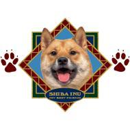 シバイヌ柄のワンタッチ傘です(ダイヤモンド)犬/ドッグ