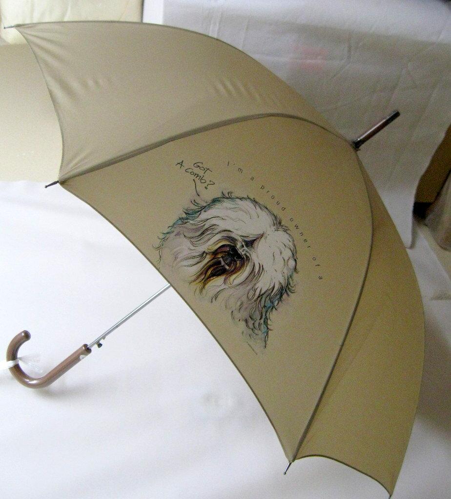 オールドイングリッシュ・シープドッグ柄のワンタッチ傘です(アニメ)