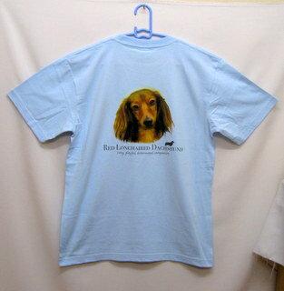 ダックスフンド柄の半袖Tシャツです(NEW)