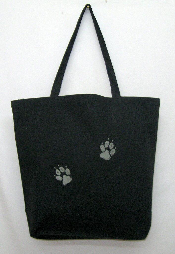 バセットハウンド柄の、たっぷりサイズ、厚手のトートバッグ(大)です。(R-4)ドッグ/イヌ/犬