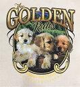 ゴールデンレトリーバー (WN−2)パピー tシャツ 半袖 カットソー 丸首型 クルーネック 綿100% コットン トップス 服 レディース メンズ シンプル かわいい おしゃれ イベント お揃い ドッグ 犬 犬柄 いぬ 犬プリント 犬種別 犬グッズ その1