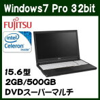 �ٻ���LIFEBOOKA574/MXFMVA10033P�Ρ��ȥѥ�����Windows7Celeron500GBHDDDVD�����ѡ��ޥ���ɥ饤��15.6��̵��LAN