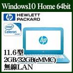 HPY4G18PA-AAAAStream11-y003TUベーシックモデルWindows10Celeron2GBオンボード32GB11.6インチワイド無線LANwebカメラ