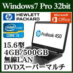 HPX6W59PA#ABJWindows7Corei34GB500GBスーパーマルチドライブ15.6型無線LANofficeMicrosoftOfficePersonal2013
