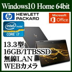 HP1DF89PA-AAABHPSpectrex36013-ac000パフォーマンスモデルWindows10IntelCorei716GBオンボードSSD1TB13.3インチワイドwebカメラMSOfficeHome&BusinessPremium