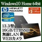 HP1DF89PA-AAABHPSpectrex36013-ac000パフォーマンスモデルWindows10IntelCorei716GBオンボードSSD1TB13.3インチワイドwebカメラMSOfficeHome&BusinessPremium