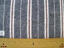 大特価 着分カット生地綿麻ダンガリーワッシャー ストライプ 1.5m着分カット 2540-3 【着分】