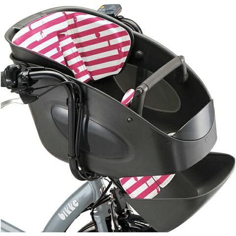 ブリヂストン bikke POLAR用 フロントチャイルドシートクッション FBP-K P-W ボーダーピンク