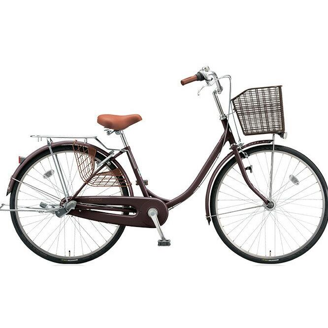 ブリヂストン(BRIDGESTONE) シティサイクル エブリッジU EB60UT F.Xカラメルブラウン 26インチ変速なし 点灯虫(オートライト)ランプ 【2017年モデル】【完全組立済自転車】:自転車のトライ