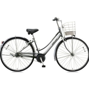 ブリヂストン(BRIDGESTONE) シティサイクル アルベルト L型 ABL75 M.スパークルシルバー 27インチ5段変速 【2018年モデル】【完全組立済自転車】