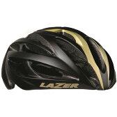 送料無料 LAZER(レイザー) サイクルヘルメット O2 マットブラック/ゴールド M/Lサイズ