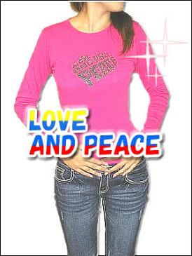 デミムーンLOVETシャツ【送料無料】【最安値に驀進中】レディススリムフィットTシャツ【レディース】【ロンT】【秋冬】【70102sfld】【Love&Peace】